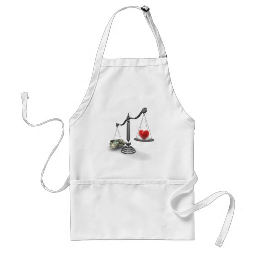 Love don't weigh a thing apron