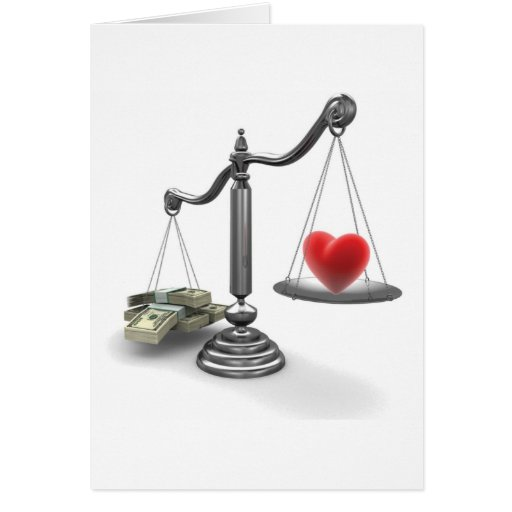 Love don't weigh a thing greeting card
