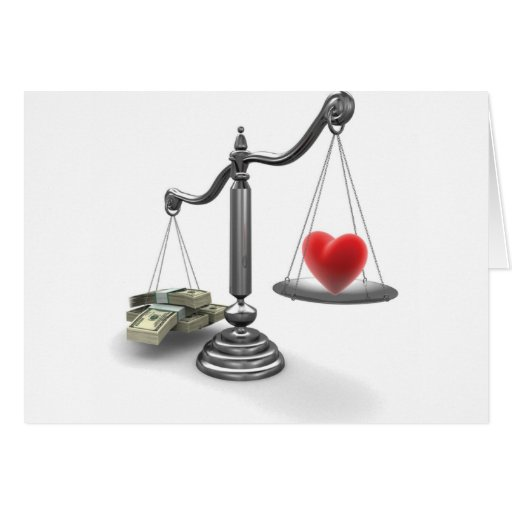 Love don't weigh a thing card