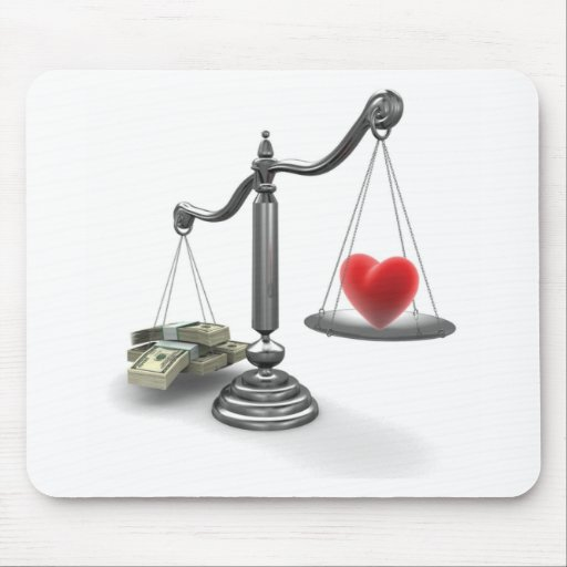 Love don't weigh a thing mouse mat