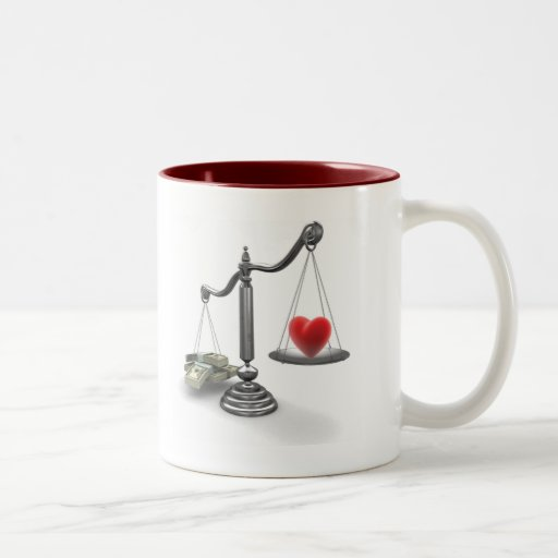 Love don't weigh a thing coffee mugs