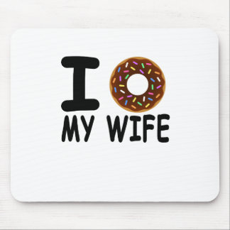 love donut is my valentine funny shirt . mouse pad