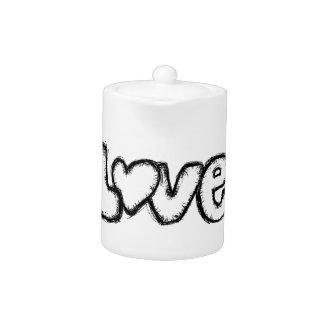 love doodle black white simple modern