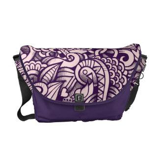 Love Doodle Design Messenger Bag