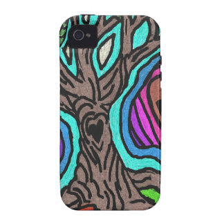Love doodle tree Case-Mate iPhone 4 cases