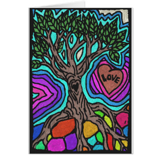 Love doodle tree greeting card