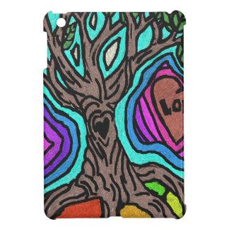 Love doodle tree iPad mini case