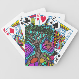 Love doodle tree poker cards