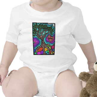 Love doodle tree baby bodysuit