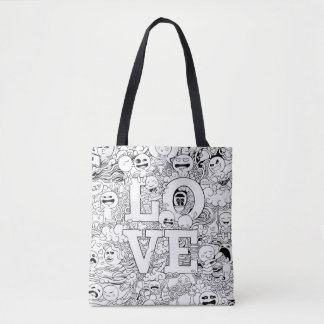 Love Doodles Tote Bag