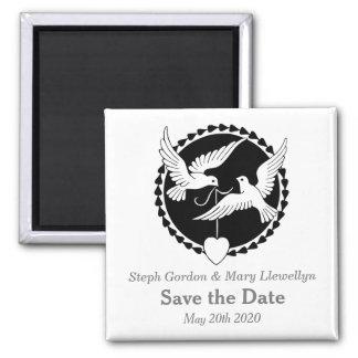 Love Doves Elegant Save the Date Wedding Magnet