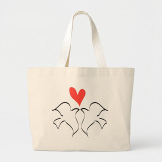 Love Doves Large Tote Bag