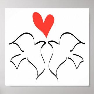 Love Doves Print