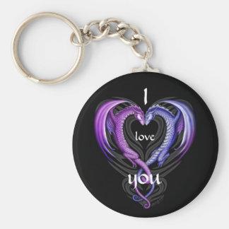 love dragons key ring