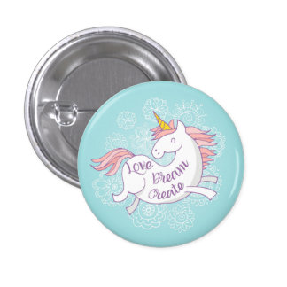 Love Dream Big Unicorn Spring Button
