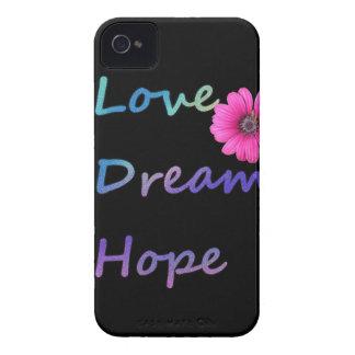 Love, Dream, Hope Flower iPhone 4 Cases