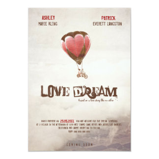 Love Dream Wedding Invite