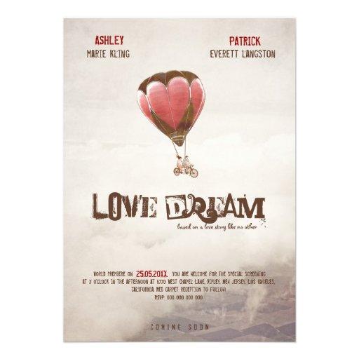 Love Dream Wedding Invite