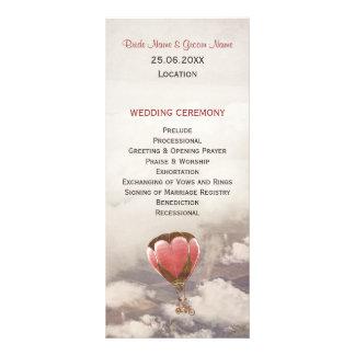 Love Dream Wedding Program Rack Card