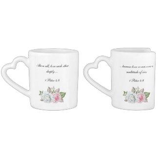 Love Each Other Deeply Scripture Coffee Mug Set