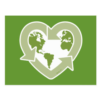 Love Earth : Recycle! Postcard