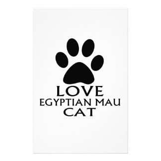 LOVE EGYPTIAN MAU CAT DESIGNS STATIONERY