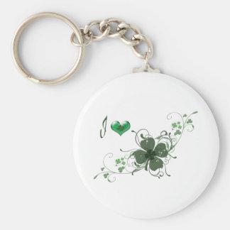 Love Elegant Shamrock Design Key Chains