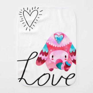 Love Elephant Baby Burp Cloths