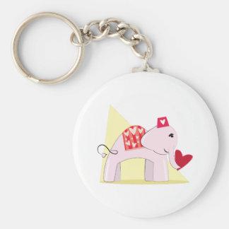 Love Elephant Keychains