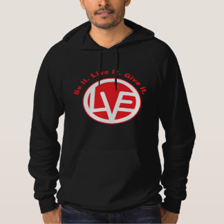 Love Emblem Fleece Pullover Hoodie