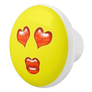 Love  Emoji Ceramic Knob