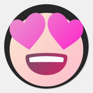 Love Emoji Classic Round Sticker