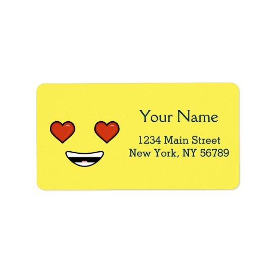 Love Emoji Label