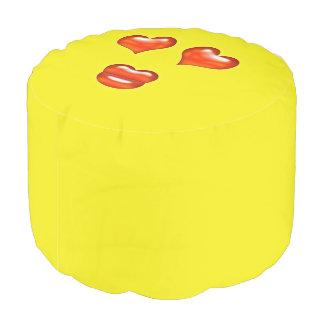 Love Emoji Pouf