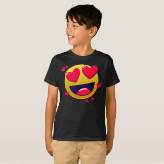 Love Emote Emoji Smilely Yellow Face Kids T-Shirt