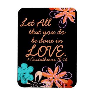 Love encouragement bible verse 1 Corinthians Rectangular Photo Magnet