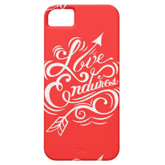 LOVE ENDURES SHOUTOUT RED WHITE SAYINGS EXPRESSION CASE FOR iPhone 5/5S