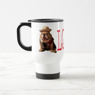 Love English Bulldog Puppy Dog Coffee Travel Mug