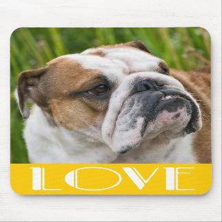 Love English Bulldog Puppy Dog Mousepad