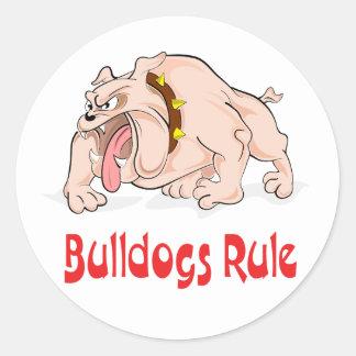 Love English Bulldog Puppy Dog Sticker / Seal Round Stickers