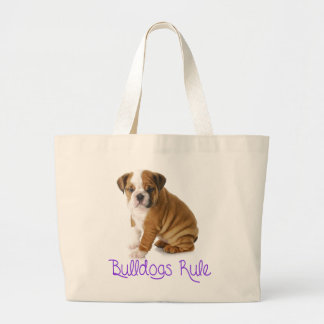 Love English Bulldog Puppy Dog Tote Bag