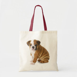 Love English Bulldog Puppy Dog Tote Bag