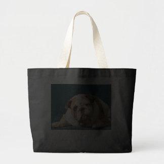 Love English Bulldogs Puppy Dog Canvas Tote Bag