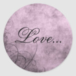 Love- Envelope Seals: Love's Twilight Collection Round Stickers