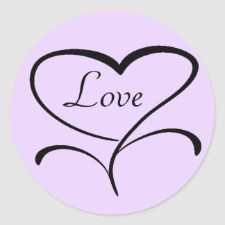 Love Envelope Seals Round Sticker