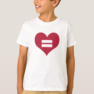 Love Equality Heart Kid's Basic T-Shirt