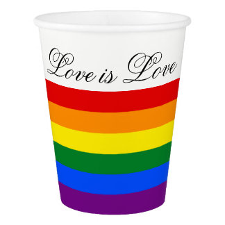 Love Equality Rainbow Flag LGBT Lesbian Gay Pride Paper Cup