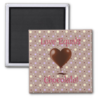 Love Equals Chocolate Magnet