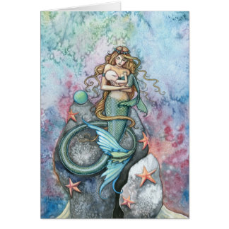 Love Eternal Mermaid and Baby Greeting Card