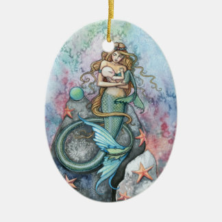 Love Eternal Mermaid Mother and Baby Ornament